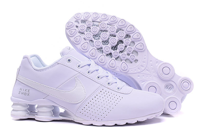 NEW WOMEN NIKE SHOX DELIVER ALL WHITE SHOES